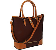 As Is Dooney & Bourke Python Embossed Medium Leather Cayden Shopper - A278912