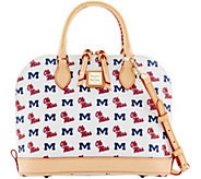 Dooney & Bourke NCAA Ole Miss University Zip Zip Satchel - A283212