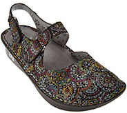 As Is Alegria Leather Perforated Closed-Toe Sandals - Jemma - A288212