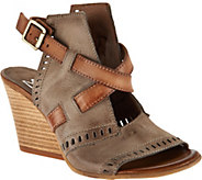 Miz Mooz Leather Two Toned Block Wedges - Kipling - A290412