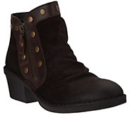 FLY London Suede Ankle Boots w/Stud Details - Duke - A296812