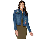 G.I.L.I. Denim Jacket with Placed Embroidery - A302112