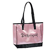 Bridesmaid Pink Satin Tote - A315912