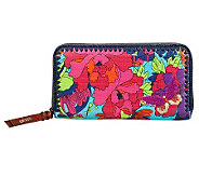 Sakroots Artist Circle Zip Around Large Wallet - A322612