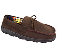 MUK LUKS Mens Polysuede Flannel-Lined Moccasin s - A331812