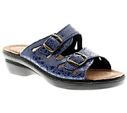 Flexus by Spring Step Footstep Croco Leather Slide Sandals - A332012