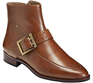 Aerosoles Leather Ankle Booties - Back East - A360912