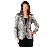 M by Marc Bouwer Animal Print One Button Blazer - A221513