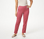 Denim & Co. Pull-On Front V-Yoke Pants with Pockets - A228213