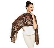 Joan Rivers Chiffon Velvet Animal Print Scarf - A229813