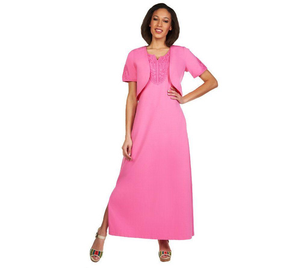 Shrug Maxi Dress