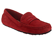 Isaac Mizrahi Live! Suede Patent Trimmed Penny Loafers - A236213