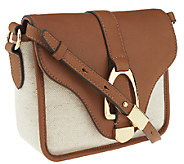 G.I.L.I. Canvas and Leather Crossbody Bag - A253713