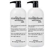 philosophy super size micro-delivery exfoliating wash 32 oz duo - A259913