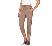 LOGO Lounge by Lori Goldstein Drawstring Waist Crop Pants - A263313