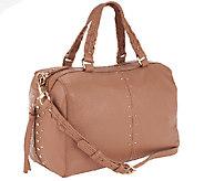 As Is B. Makowsky Celeste Leather Zip Top Satchel - A263413