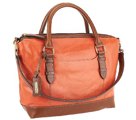 Tignanello Distressed Leather Satchel