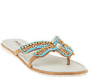 Rialto Thong Sandals with Beaded Starfish Design - Starfish - A265913