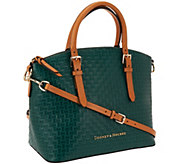 Dooney & Bourke Claremont Woven Embossed Domed Satchel - A266613