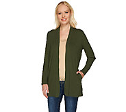 Susan Graver Dolce Knit Long Sleeve Open Front Cardigan - A266813