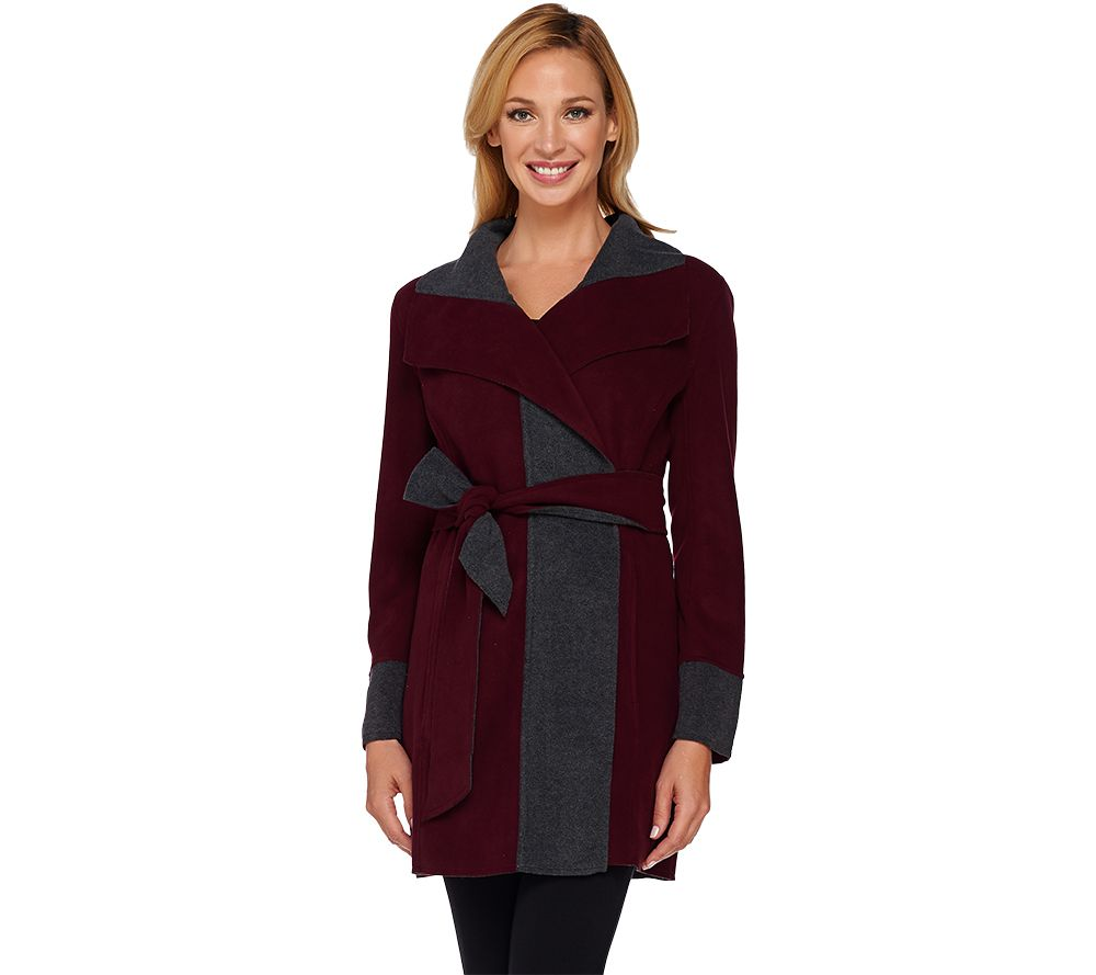 Susan Graver Weekend Lightweight Fleece Wrap Jacket - Page 1 — QVC.com