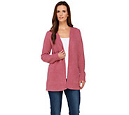 Susan Graver Cozy Knit Long Sleeve Open Front Cardigan - A270313