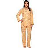 Isaac Mizrahi Live! Damask Print Knit Pajama Set - A270813