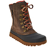 BareTraps Suede Lace-up Water Repellant Outdoor Boots - Yasmen - A273213