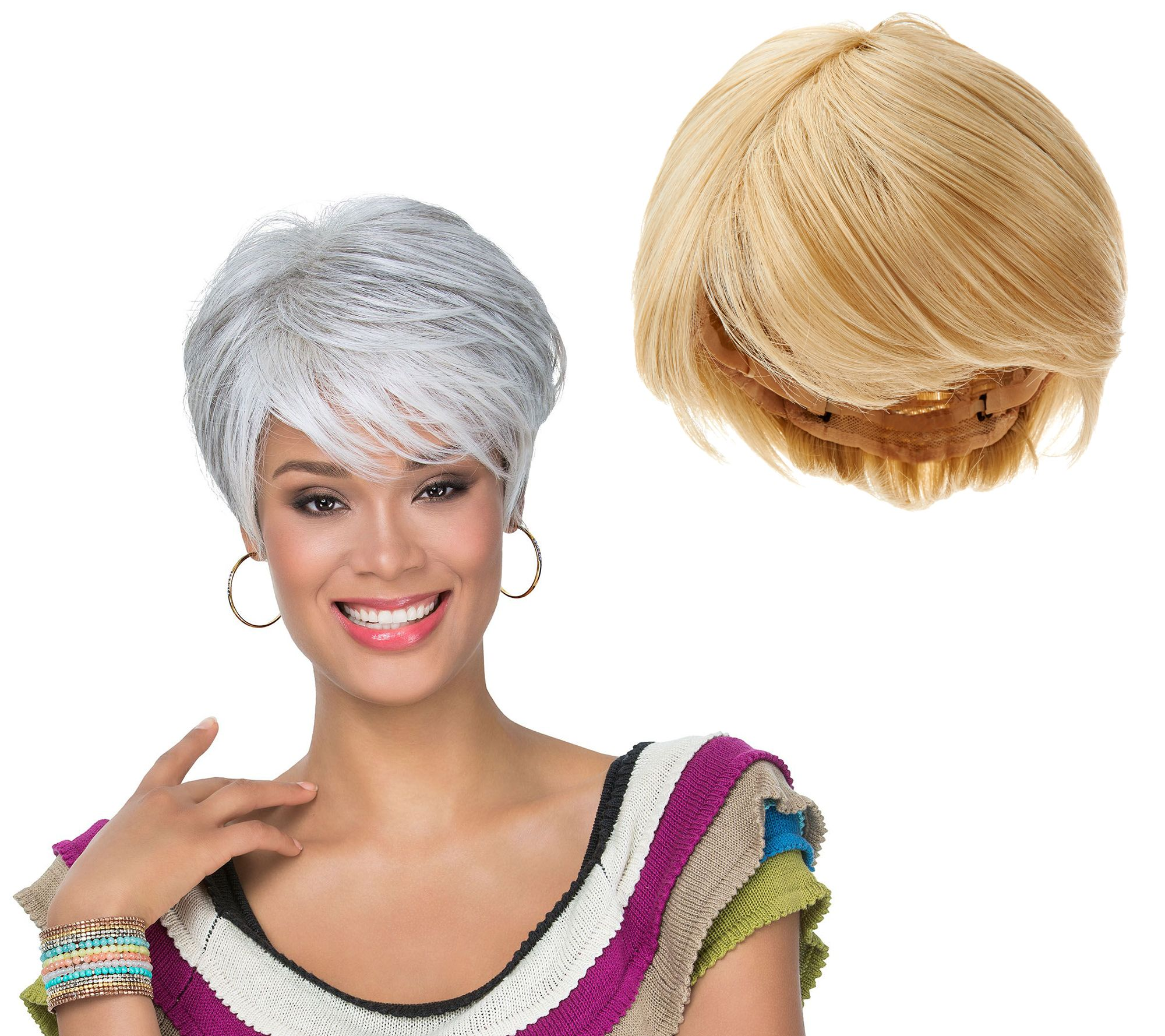 Wigs extensions hair care beauty qvc luxhair by sherri shepherd short tapered bob wig a273713 pmusecretfo Gallery