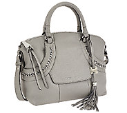 As Is Aimee Kestenberg Pebbled Leather Dome Satchel - Delila - A274213