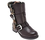 As Is Aimee Kestenberg Faux Fur Lined Mid Calf Boots - Sammy Fur - A278513