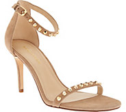 Marc Fisher Suede Ankle Strap Pumps w/ Stud Detail - Banner - A279913