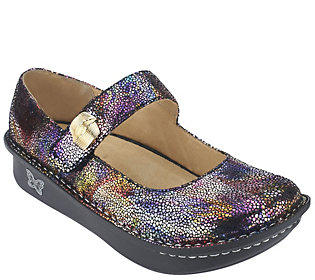 As Is Alegria Leather Mary Janes w/Embellishment - Paloma