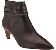 As Is G.I.L.I Leather Pointed Toe Ankle Boots - Kodelle - A281013