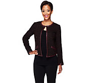 As Is Edge by Jen Rade Jacket with Faux Leather Trim - A281913