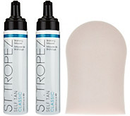 St. Tropez Set of 2 8 oz. Self Tan Mousse with Mitt Auto-Delivery - A284013