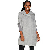 Aran Craft Merino Wool Drop Shoulder Vest with Hood - A284413