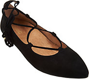 Vionic Orthotic Suede Lace-up Flats - Lucinda - A286613