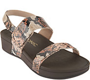 Vionic Orthotic Platform Leather Sandals - Bolinas - A287713