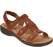 Earth Origins Leather Adjustable Sandals - Katrice - A289313
