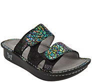 Alegria Leather Adjustable Slide Sandals - Camille - A290113