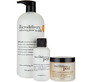 philosophy super-size exfoliating duo microdelivery peel & wash - A294713