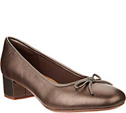 Clarks Leather or Suede Low Heel Pumps- Chartli Daisy - A295313