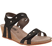 MEPHISTO Leather Double Strap Wedges - Minoa - A298813