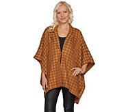 Joan Rivers Classic Houndstooth Ruana with Collar - A300613