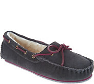 Clarks Suede Womens Moccasin Slippers - A301213