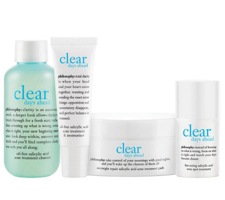 philosophy clear days ahead 30-day acne trial kit
