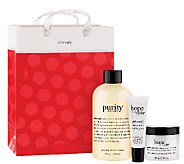 philosophy pure & hopeful skin care trio withgift bag - A335113