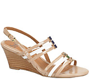 Sofft Patent Leather Wedge Sandals - Posh - A335813