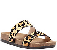 Sole Society Double Banded Slide Sandals - MaeLeopard - A340413
